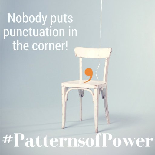 Punctuation in a corner