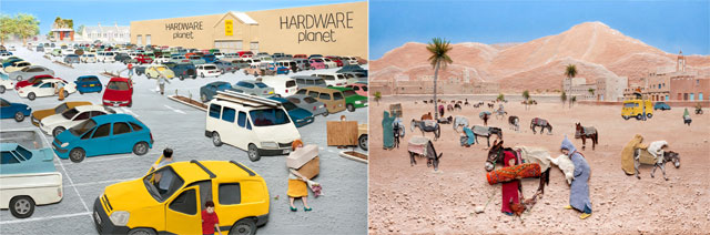 view-from-a-window-morocco-car-park