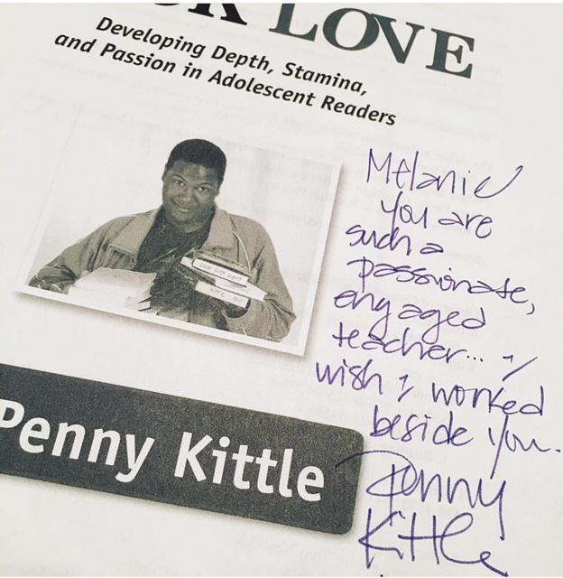 Penny Kittle signage