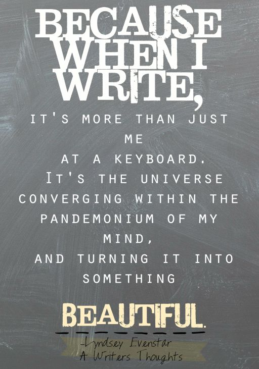 Writing in the Universe